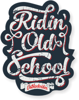 "Sticker ""Ridin´ Oldschool"""