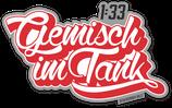"""Sticker """"Gemisch im Tank 1:33"""""""