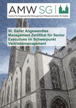 t. Galler Angewandtes Management Zertifikat für Senior Executives im Schwerpunkt Vertriebsmanagement