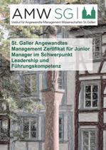 St. Galler Angewandtes Management Zertifikat für Junior Manager im Schwerpunkt Leadership und Führungskompetenz