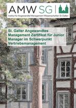 St. Galler Angewandtes Management Zertifikat für Junior Manager im Schwerpunkt Vertriebsmanagement