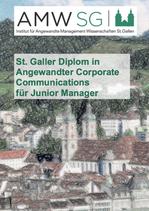 St. Galler Diplom in Angewandter Corporate Communications für Junior Manager