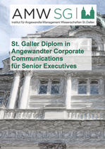 St. Galler Diplom in Angewandter Corporate Communications für Senior Executives