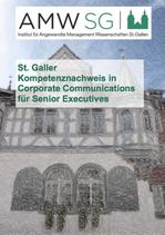 St. Galler Kompetenznachweis in Corporate Communications für Senior Executives
