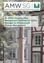 St. Galler Angewandtes Management Zertifikat für Junior Manager im Schwerpunkt Change Management