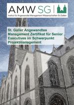 St. Galler Angewandtes Management Zertifikat für Senior Executives im Schwerpunkt Projektmanagement
