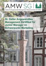 St. Galler Angewandtes Management Zertifikat für Junior Manager im Schwerpunkt Marketing