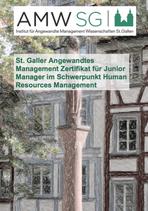 St. Galler Angewandtes Management Zertifikat für Junior Manager im Schwerpunkt Human Resources Management