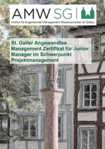 St. Galler Angewandtes Management Zertifikat für Junior Manager im Schwerpunkt Projektmanagement