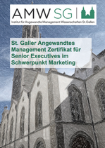 St. Galler Angewandtes Management Zertifikat für Senior Executives im Schwerpunkt Marketing