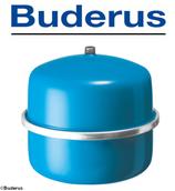 Buderus Logafix Membran-Druckausdehnungsgefäß für Heizungsanlagen | Blau ,  Weiß , Silber | 18 - 80 Liter