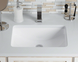 Rectangular Porcelain Sink - White