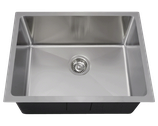 "Undermount Stainless Steel Single Bowl 3/4"" Radius Kitchen Sink"