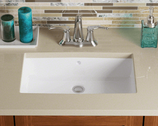 Rectangular Bathroom Sink - White