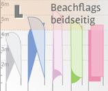 L Beachflag, beidseitig bedruckt