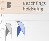 S Beachflag, beidseitig bedruckt