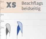 XS Beachflag, beidseitig bedruckt