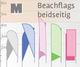 M Beachflag, beidseitig bedruckt