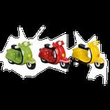 Sparkasse Motorroller in drei Farben