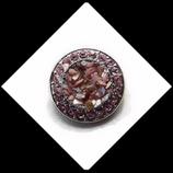 Bouton snap  éclats et strass roses  20 mm pour bijoux personnalisables