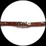 Bracelet marron support boutons snaps