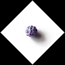 Perle strass ronde 12 mm couleur violet
