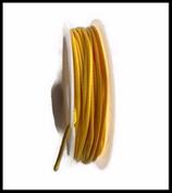 Coton ciré jaune brillant  1 mm