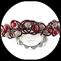 Serre tête enfant  rouge et argenté en fil aluminium, perle spirale  - accessoire de coiffure fait main.