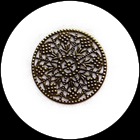Estampe filigrane fleur couleur bronze  48 mm estampe X2