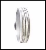 Coton ciré blanc mat  1 mm