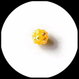 Perle strass ronde 9 mm couleur jaune