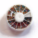 Strass ronds multicolores manucure ou customisation : carrousel strass NA 012