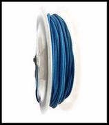 Coton ciré bleu brillant  1 mm