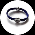 Bracelet bleu support boutons snaps 1257