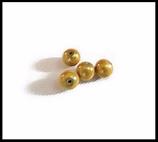 Perles magiques jaune 10 mm X 4  effet lumineux 3D.