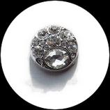 Bouton snap  strass naturel 20 mm pour bijoux personnalisables B223