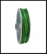 Coton ciré vert mat  1 mm