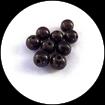 perles magiques marron 10 mm X 9  effet lumineux 3D perle miracle
