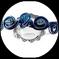 Serre tête enfant en fil aluminium camaïeu de bleu et perles -Accessoire de coiffure fait main