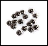 Coupelle fleur étoile couleur argent 9 mm X 6
