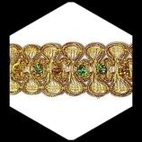 Galon doré sequins irisés 3 cm lot de 2.50 m GAL052