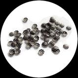 50 coupelles métal argenté vieilli 6 mm Réf : 645