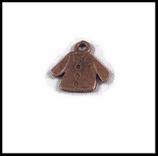 Breloque en métal veste 15 X 15  mm  bronze