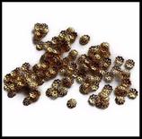 50 coupelles métal doré 6 mm  création bijoux