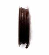Coton ciré marron brillant  2 mm