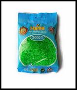 Perles à repasser HAMA  Mini 2,5 mm couleur vert néon