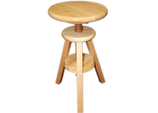 Adjustable Stool in Natural