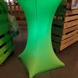 Table haute houssée lumineuse LED sans fil