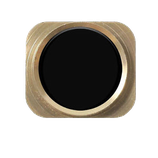 iphone 5 ring button look iphone 5s with gummi rubber BLACK + GOLD HK