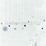 Designpapier *Sterne auf Eisblau*